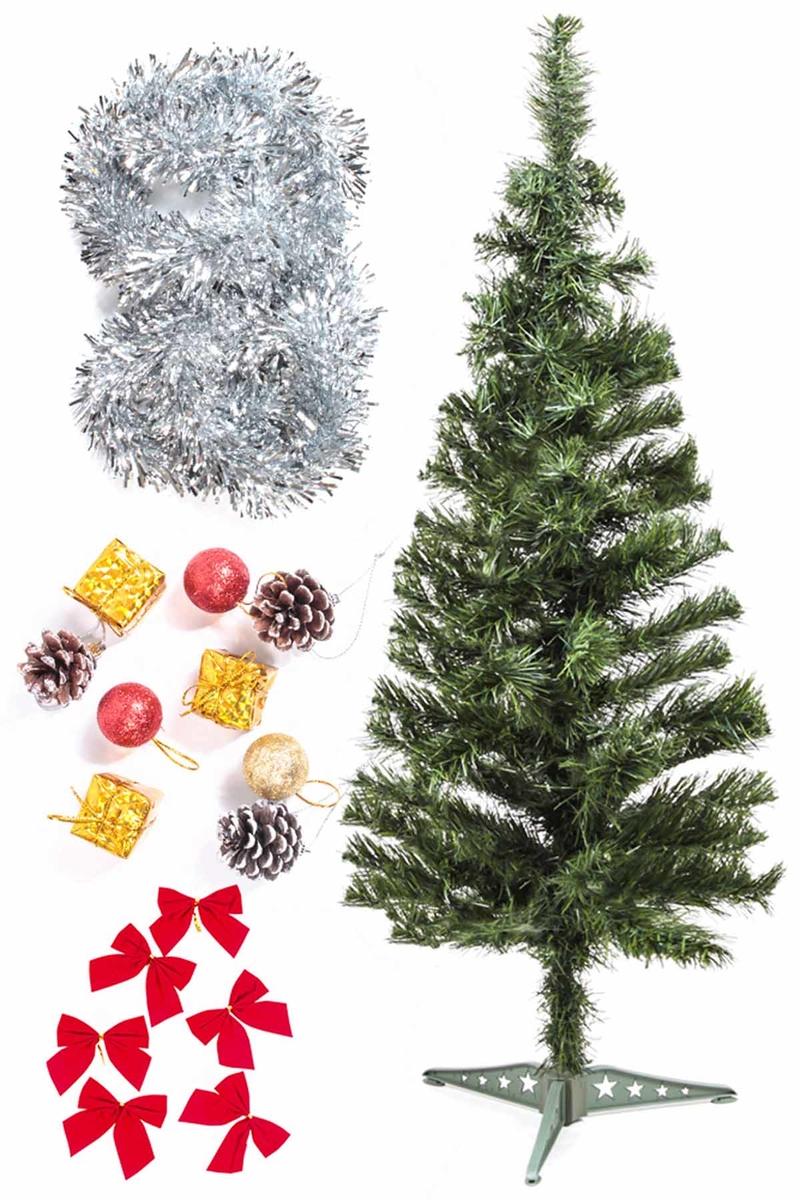 Yılbaşı Ekonomik Süslü Ağaç Seti 90cm 1 Adet (Model-74)