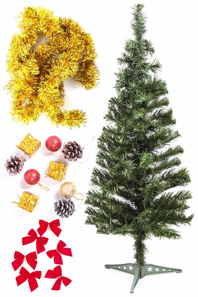 Yılbaşı Ekonomik Süslü Ağaç Seti 90cm 1 Adet (Model-8)