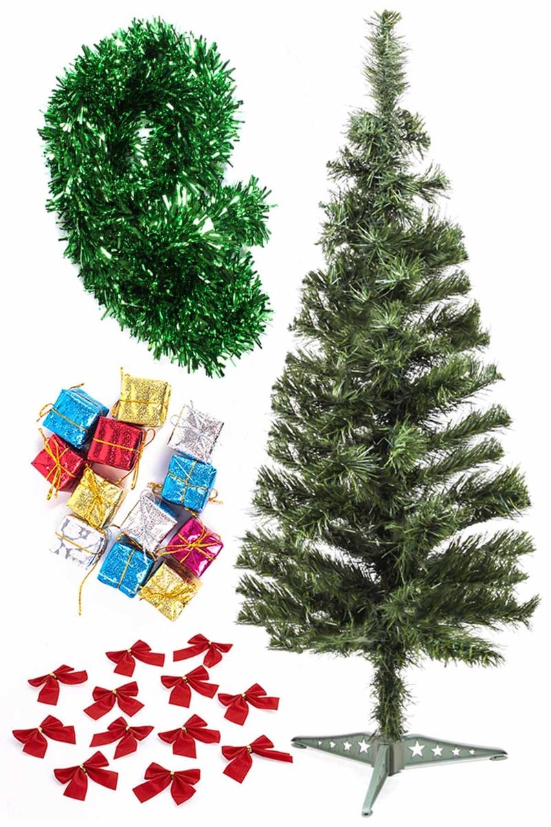 Yılbaşı Ekonomik Süslü Ağaç Seti 90cm 1 Adet (Model-99)