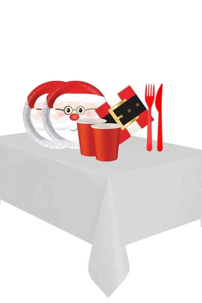 Yılbaşı Noel Baba Partisi Sofra Seti 16 Kişilik 103 Parça Model 1