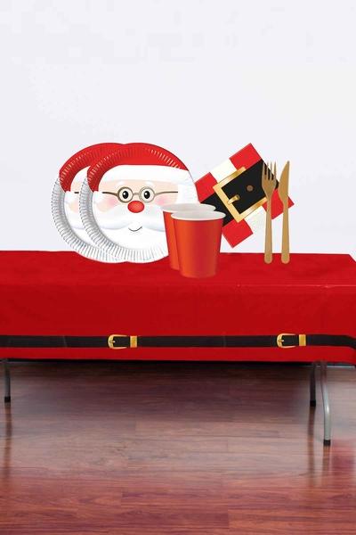 Yılbaşı Noel Baba Partisi Sofra Seti 16 Kişilik 103 Parça Model 2