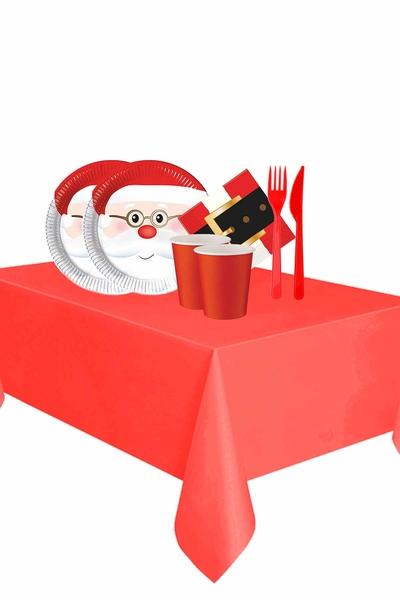 Yılbaşı Noel Baba Partisi Sofra Seti 16 Kişilik 103 Parça Model 3