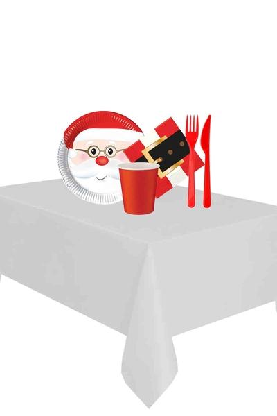 Yılbaşı Noel Baba Partisi Sofra Seti 8 Kişilik 87 Parça Model 1