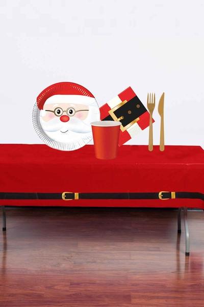Yılbaşı Noel Baba Partisi Sofra Seti 8 Kişilik 87 Parça Model 2