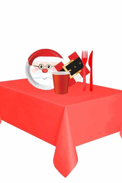 Yılbaşı Noel Baba Partisi Sofra Seti 8 Kişilik 87 Parça Model 3