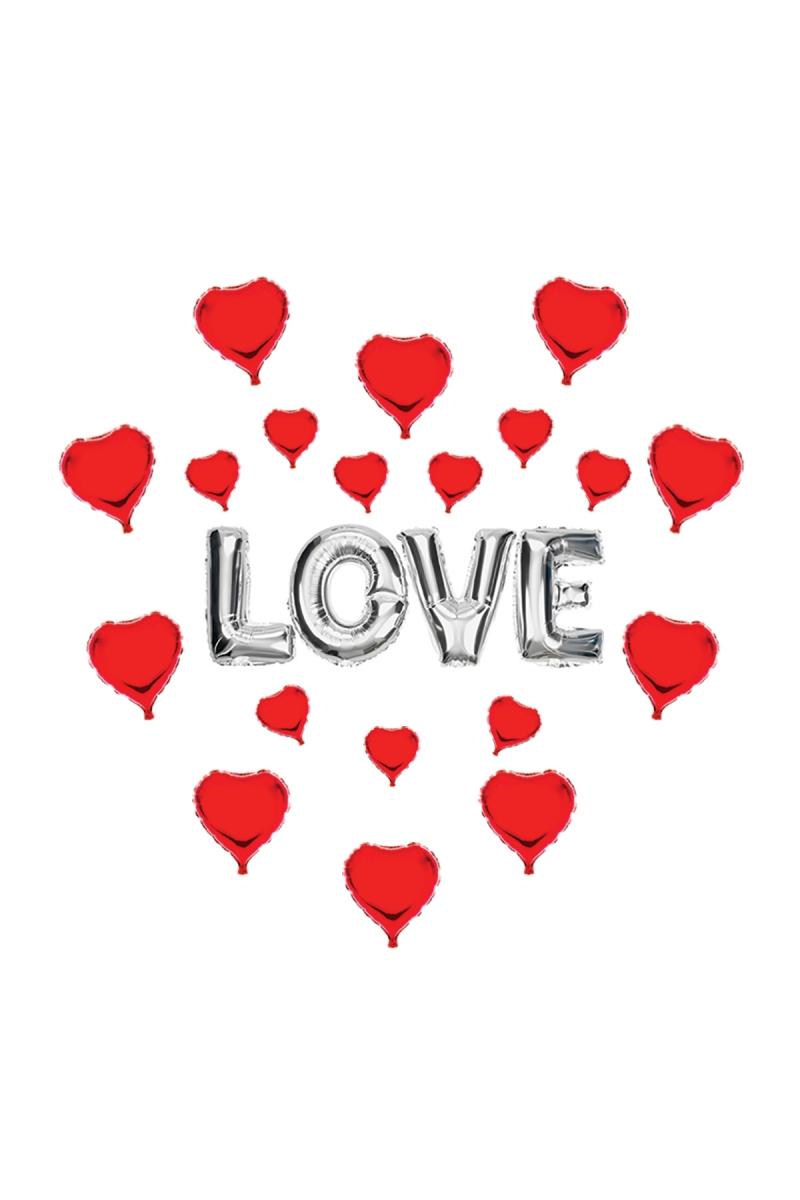 Love Kalp Folyo Balon Seti