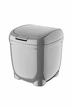 Plastik Kapaklı Çöp Kovası 184x184x160 mm 1 Adet - Thumbnail