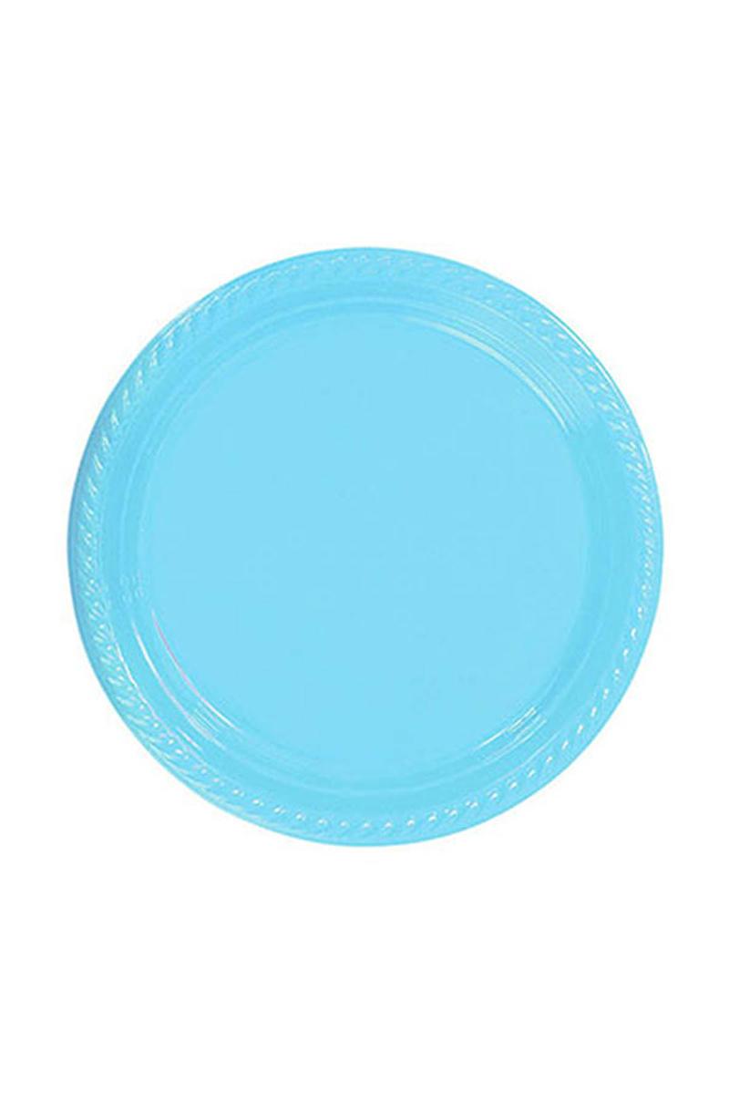 Roll-Up Plastik Tabak Açık Mavi 22cm 10lu