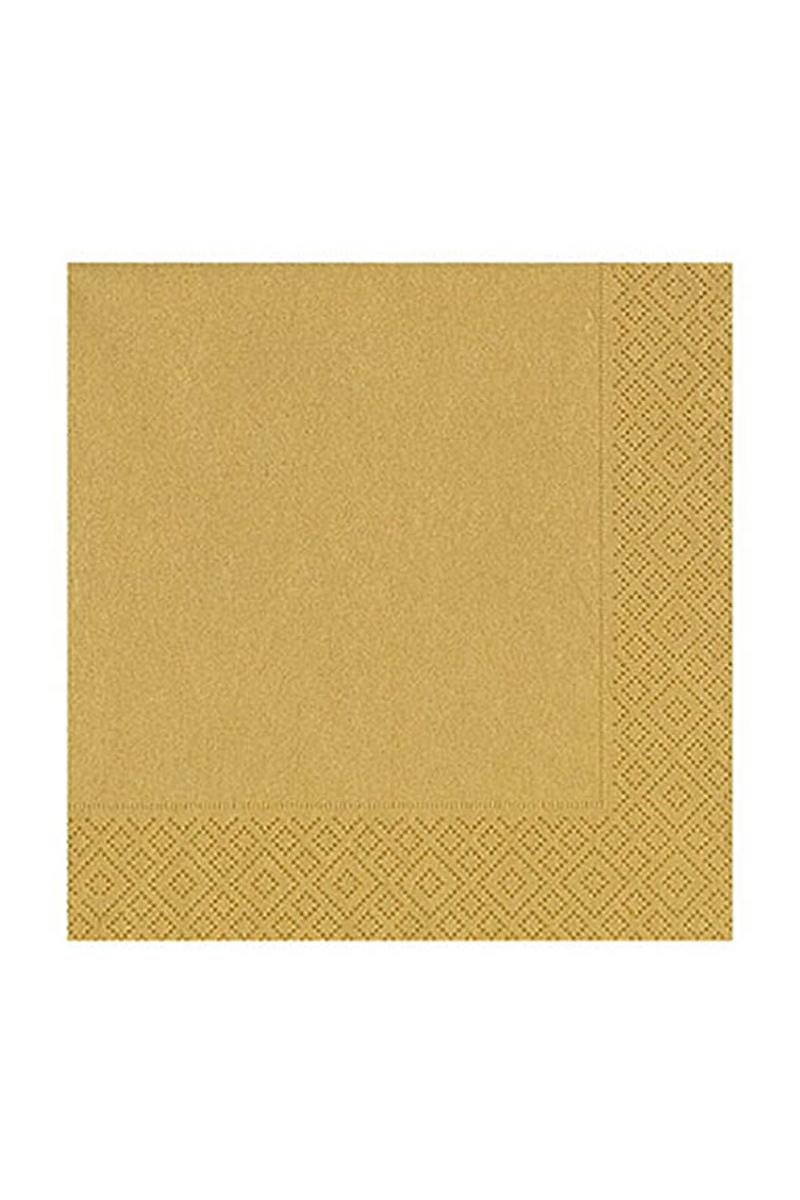 Roll-Up Kağıt Peçete Altın 33 x 33cm 20li