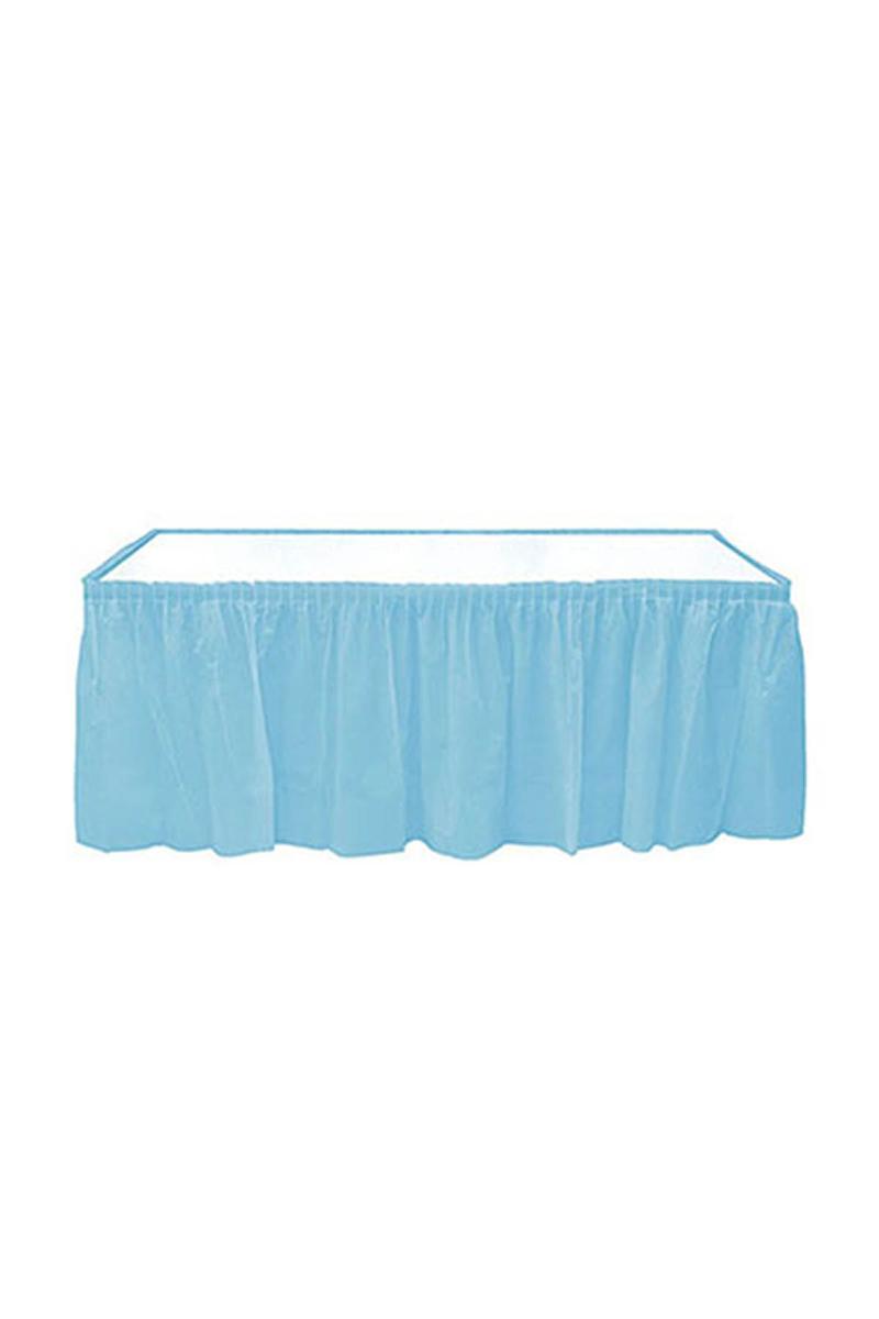 Roll-Up Plastik Masa Eteği Açık Mavi 75 x 426cm 1 Adet