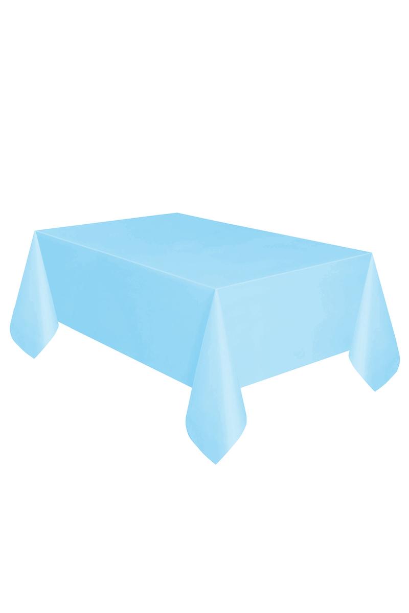 Roll-Up Plastik Masa Örtüsü Açık Mavi 137 x 270cm 1 Adet