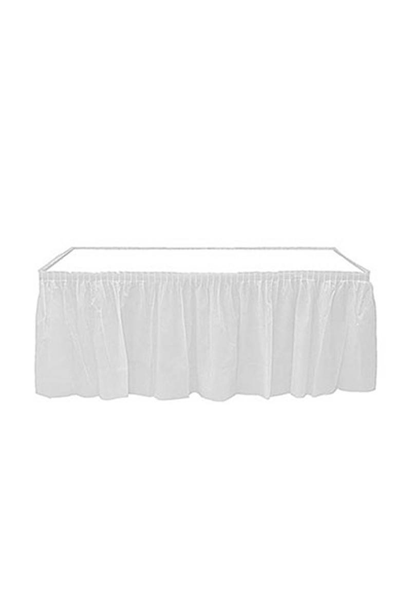 Roll-Up Plastik Masa Eteği Beyaz 75 x 426cm 1 Adet