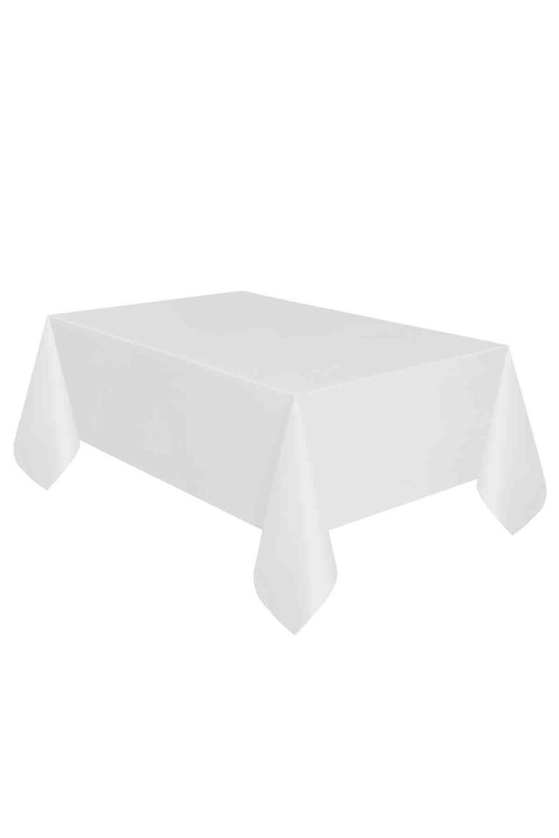 Roll-Up Plastik Masa Örtüsü Beyaz 137 x 270cm 1 Adet