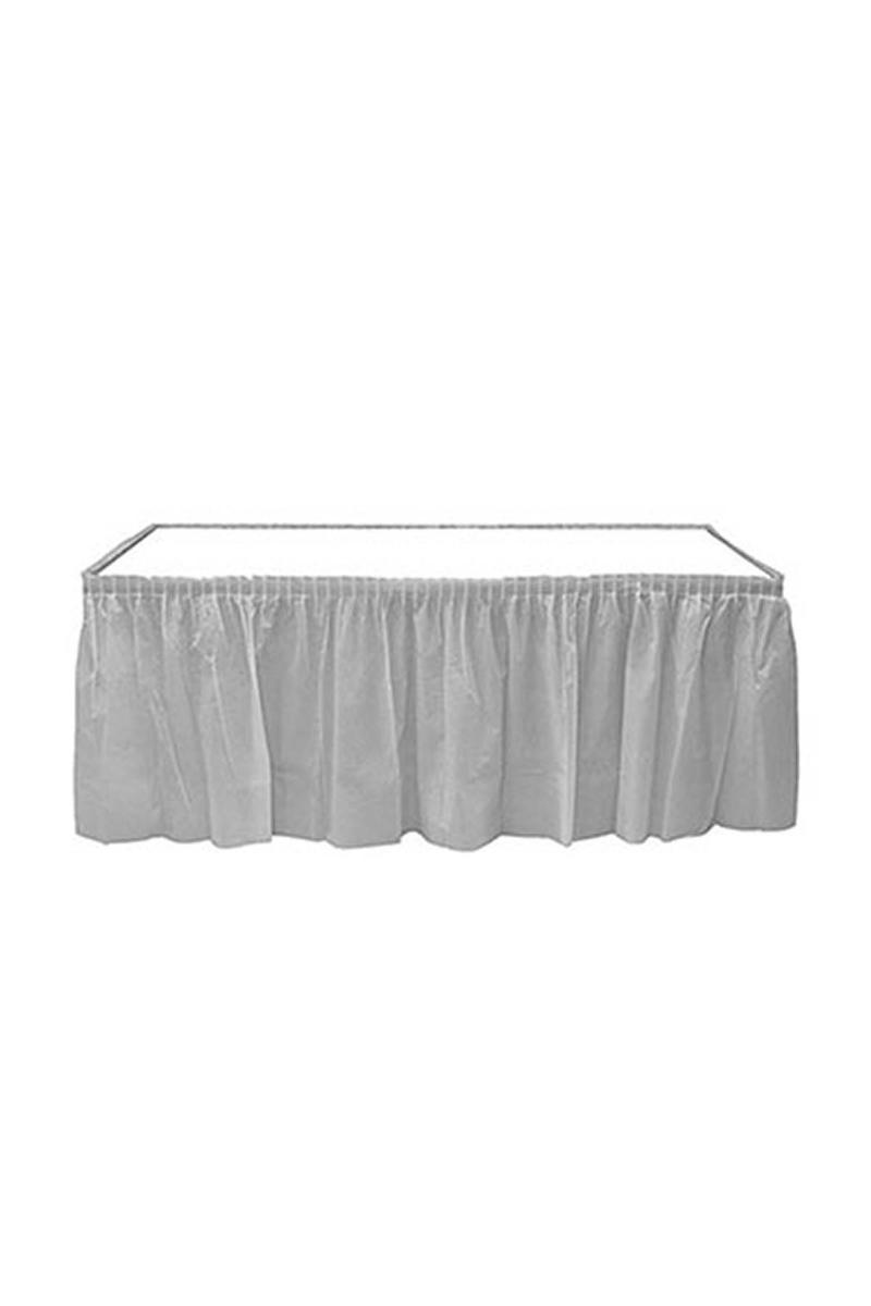Roll-Up Plastik Masa Eteği Gümüş 75 x 426cm 1 Adet