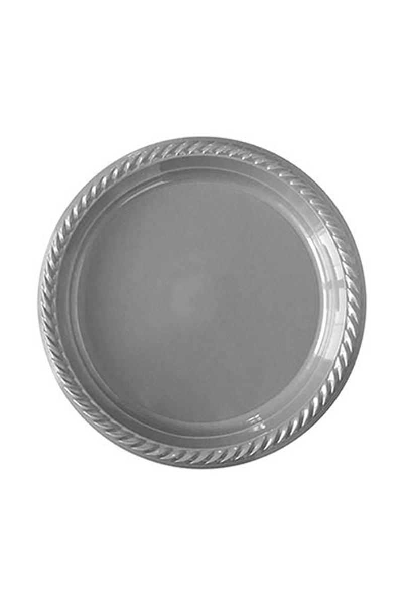 Roll-Up Plastik Tabak Gümüş 22cm 10lu
