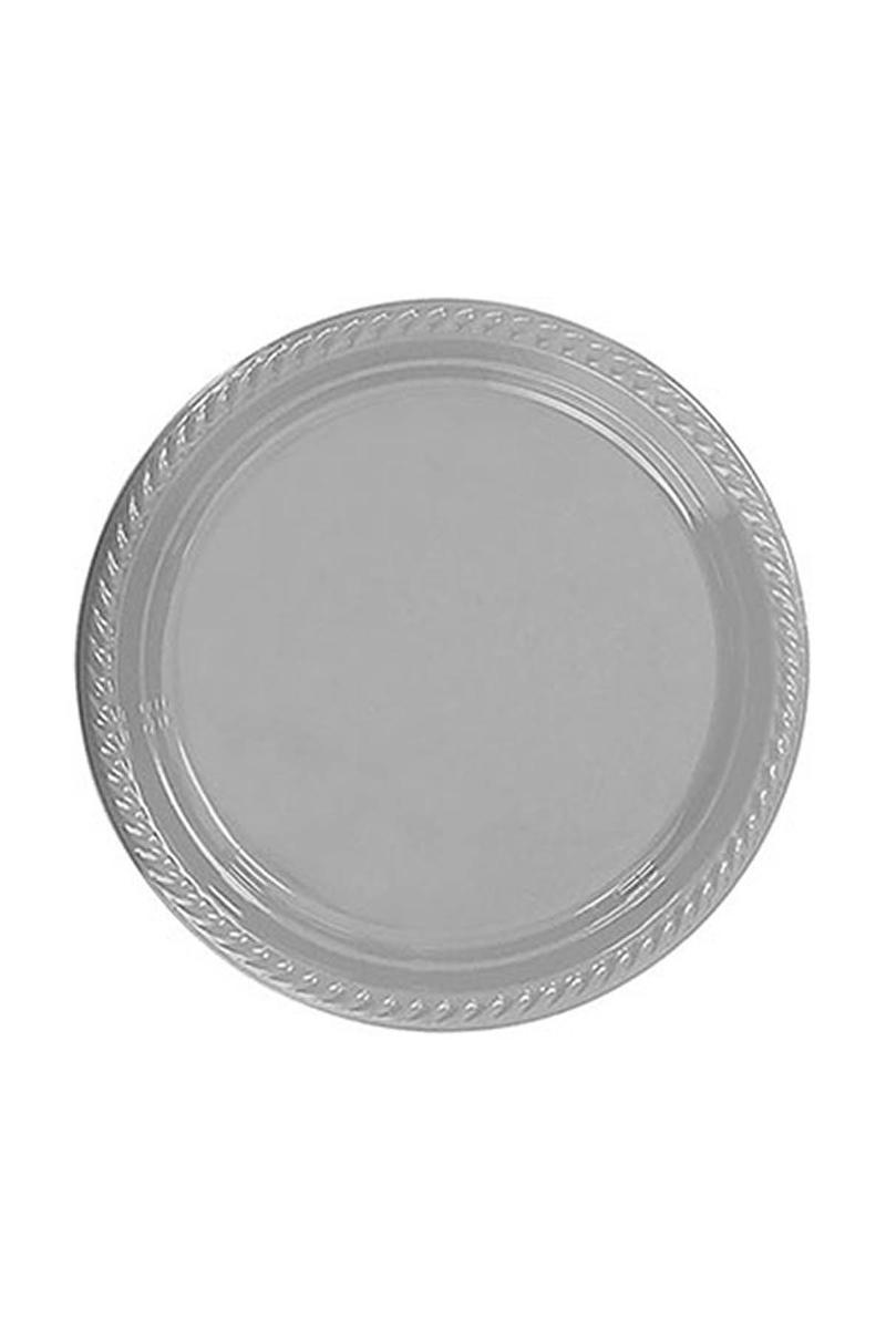 Roll-Up Plastik Tabak Gümüş 26cm 8li
