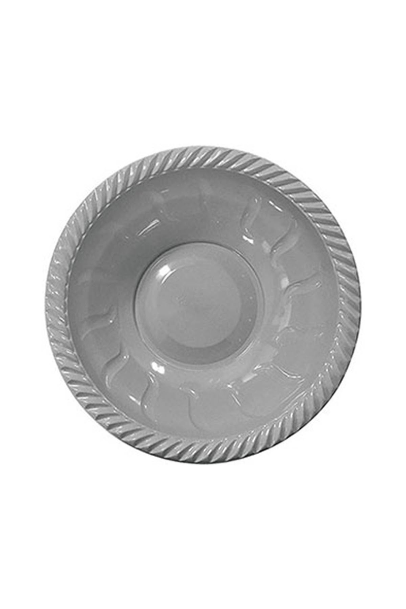 Roll-Up Plastik Yuvarlak Kase Gümüş 22cm 6lı