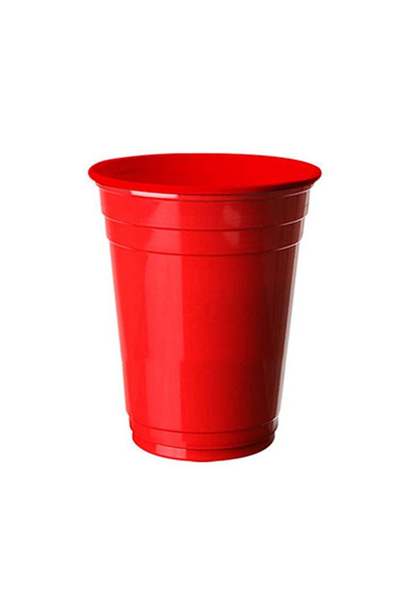 Roll-Up Plastik Meşrubat Bardağı Kırmızı 266cc-9oz 8li