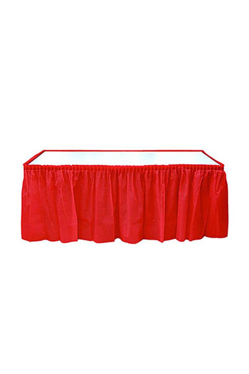 Roll-Up Plastik Masa Eteği Kırmızı 75 x 426cm 1 Adet