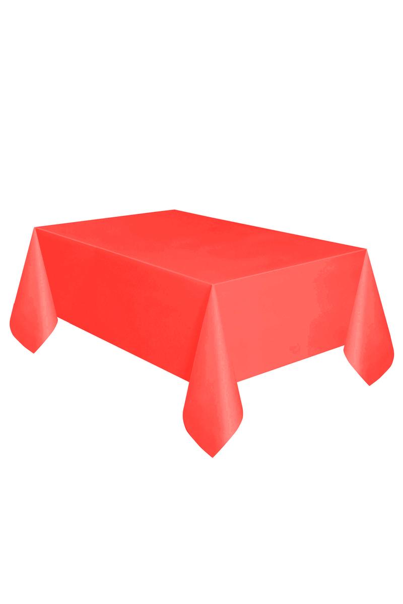 Roll-Up Plastik Masa Örtüsü Kırmızı 137 x 270cm 1 Adet