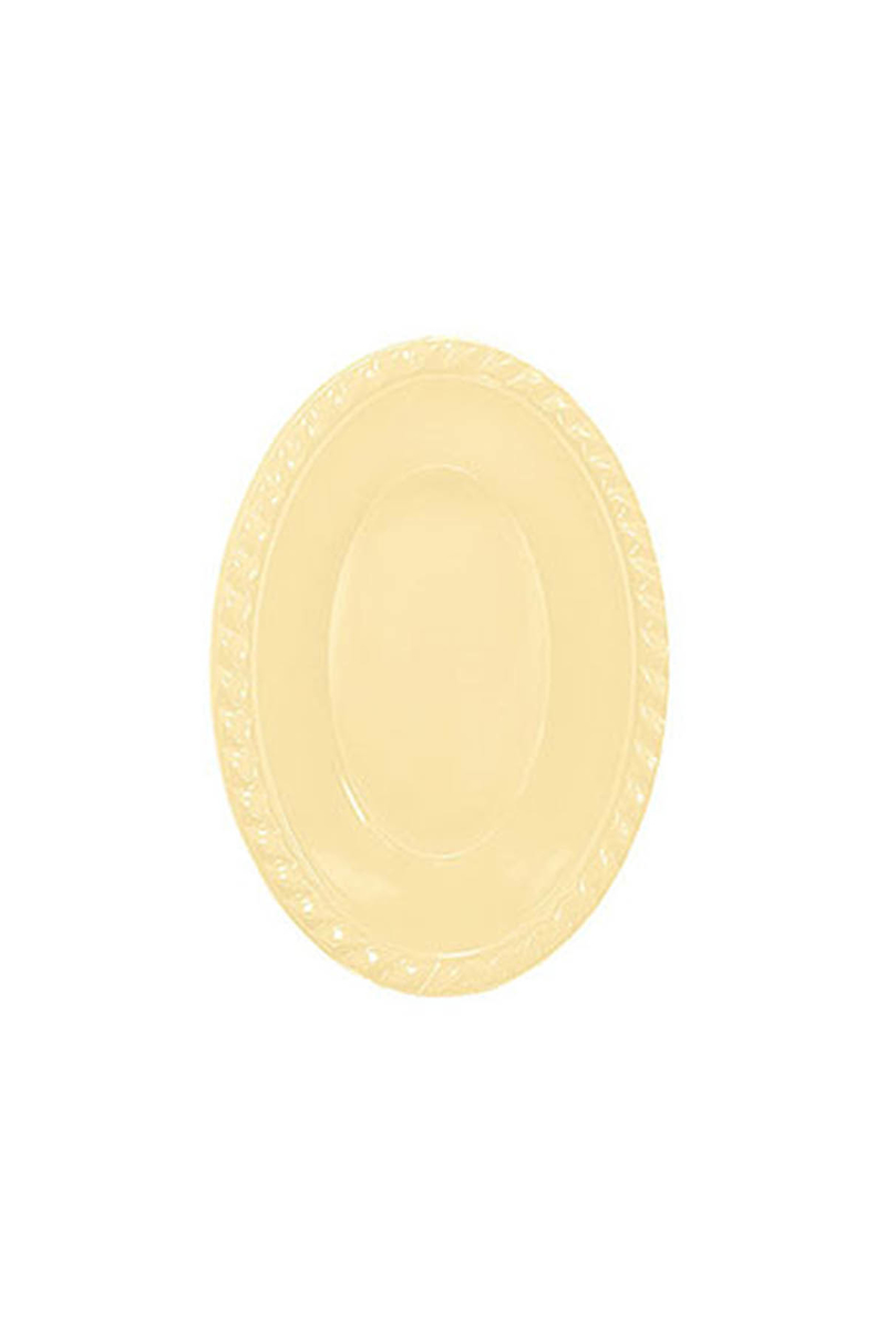 Roll-Up Plastik Oval Kase Krem 12 x 17cm 8li