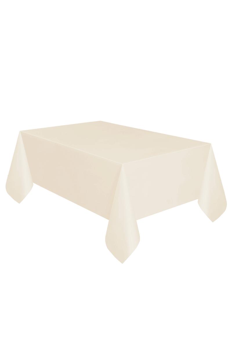 Roll-Up Plastik Masa Örtüsü Krem 137 x 270cm 1 Adet