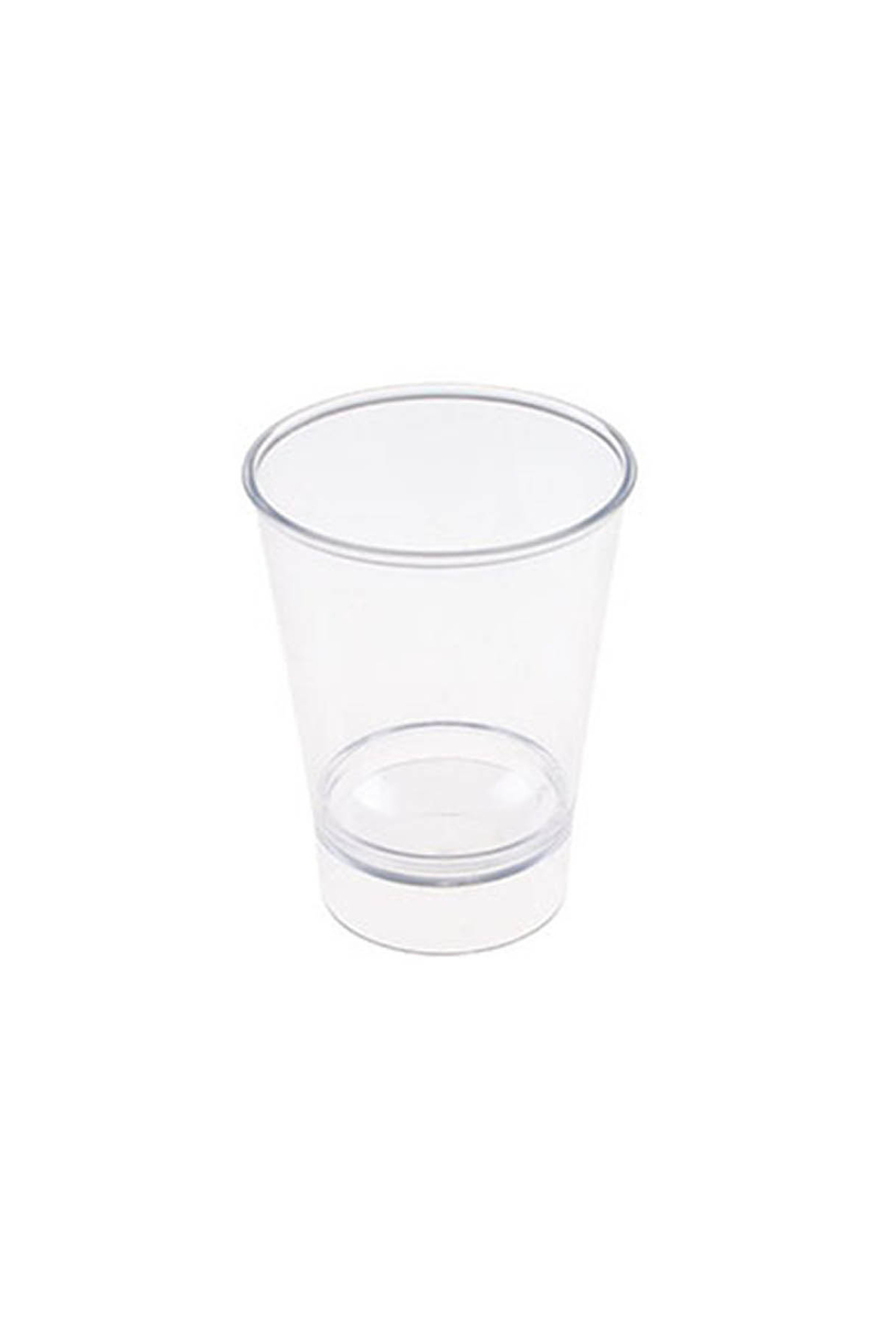 Roll-Up Plastik Shot Bardağı Şeffaf 60cc 12li - Thumbnail