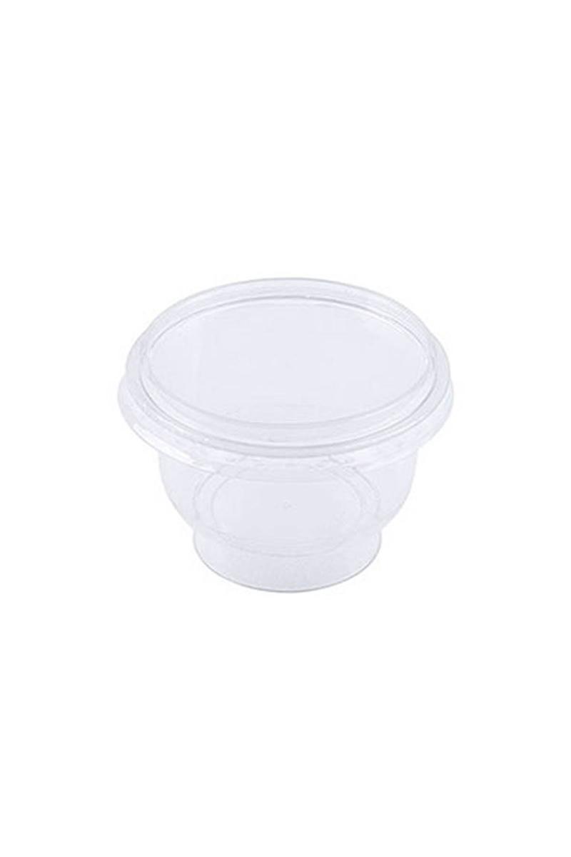 Roll-Up Plastik Kristal Tatlı Kasesi ve Kapak Set 12li