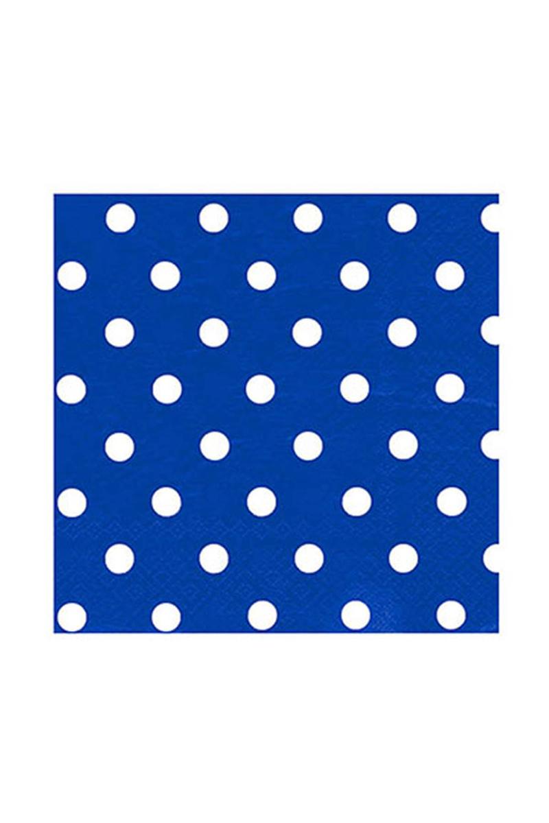 Roll-Up Kağıt Peçete Beyaz Puantiyeli Lacivert 33 x 33cm 20li