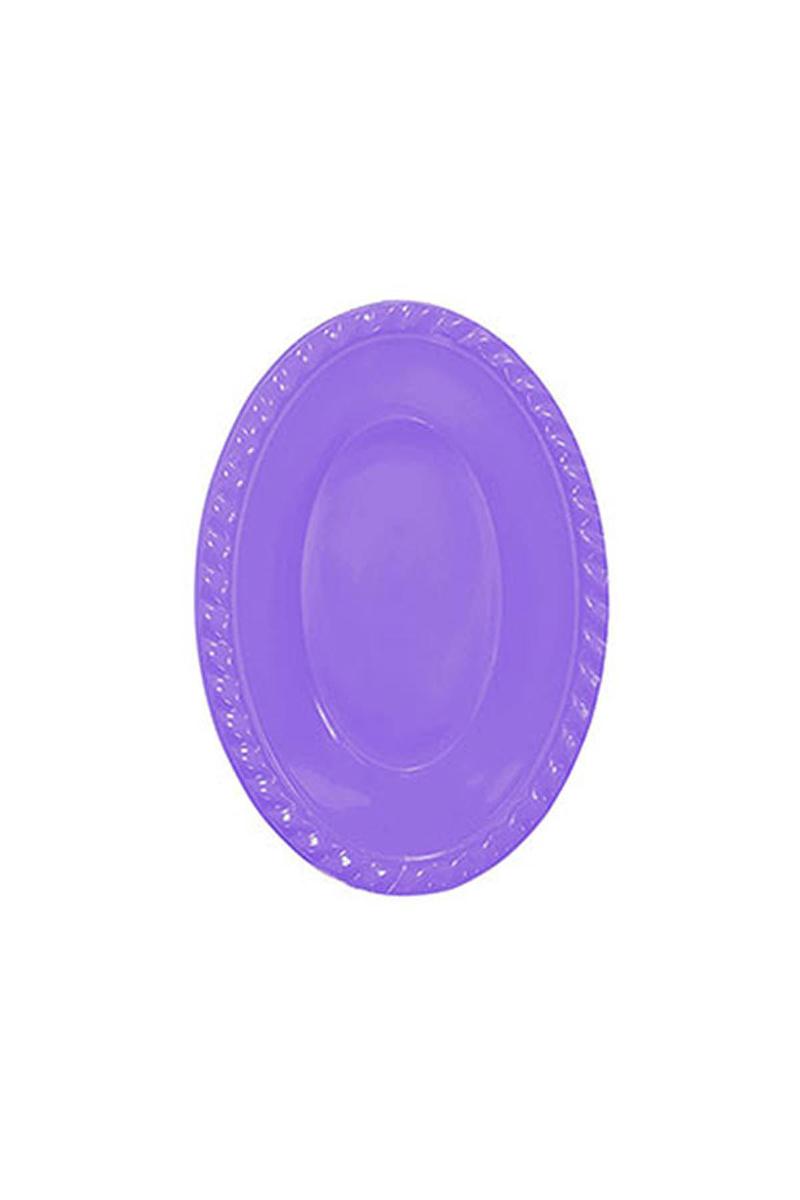 Roll-Up Plastik Oval Kase Lila 12 x 17cm 8li
