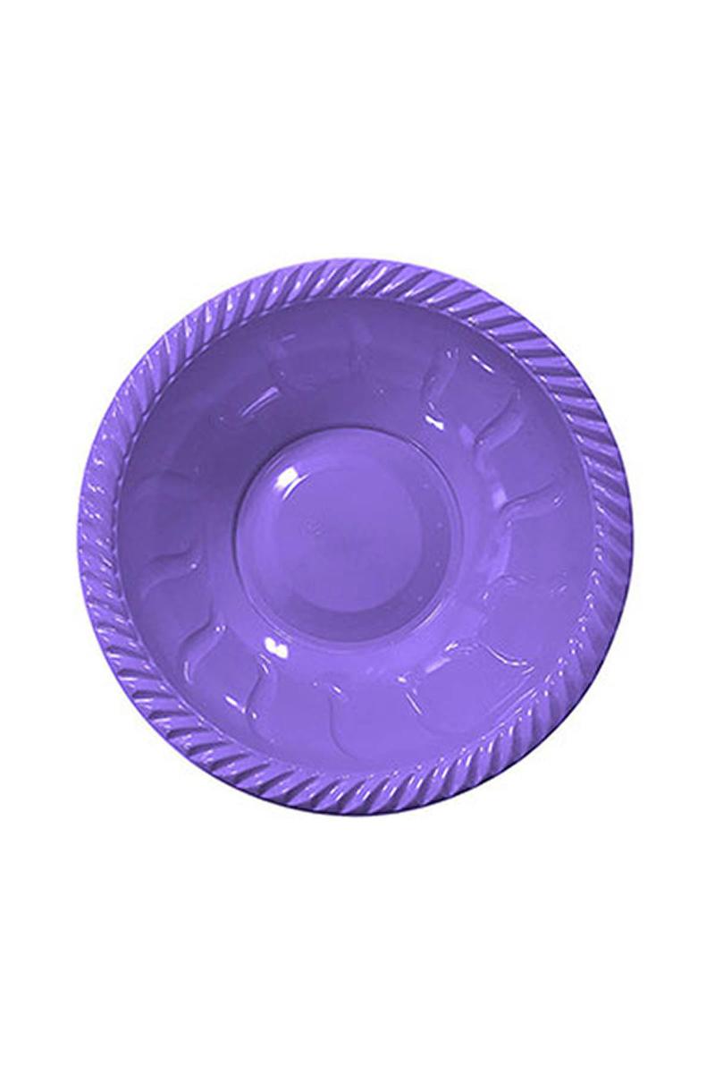 Roll-Up Plastik Yuvarlak Kase Lila 22cm 6lı