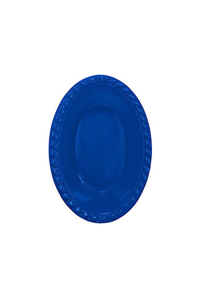 Roll-Up Plastik Oval Kase Lacivert 12 x 17cm 8li