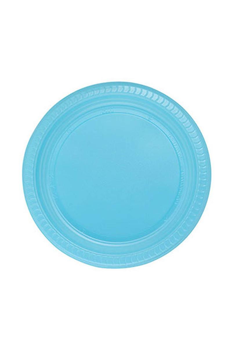 Roll-Up Plastik Tabak Açık Mavi 22cm 25li