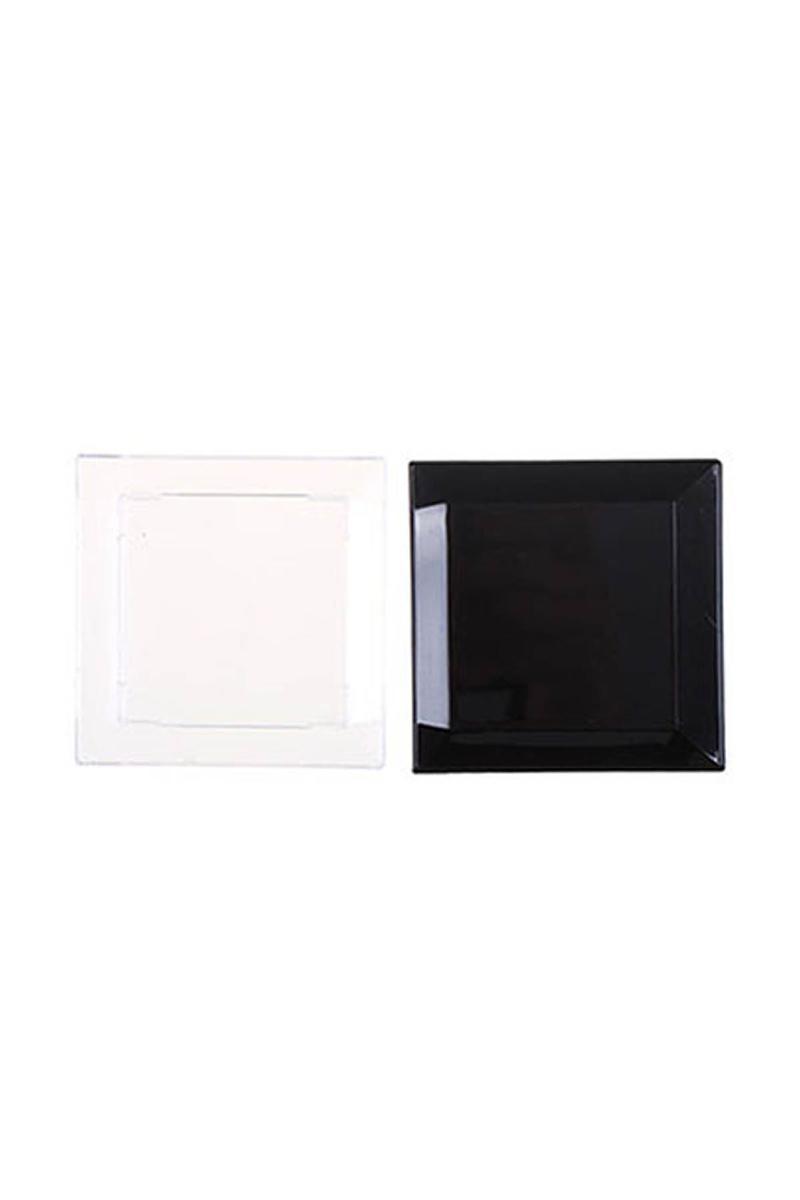 Roll-Up Mini Tapas Tabak Şeffaf-Siyah 6 x 6cm 30lu