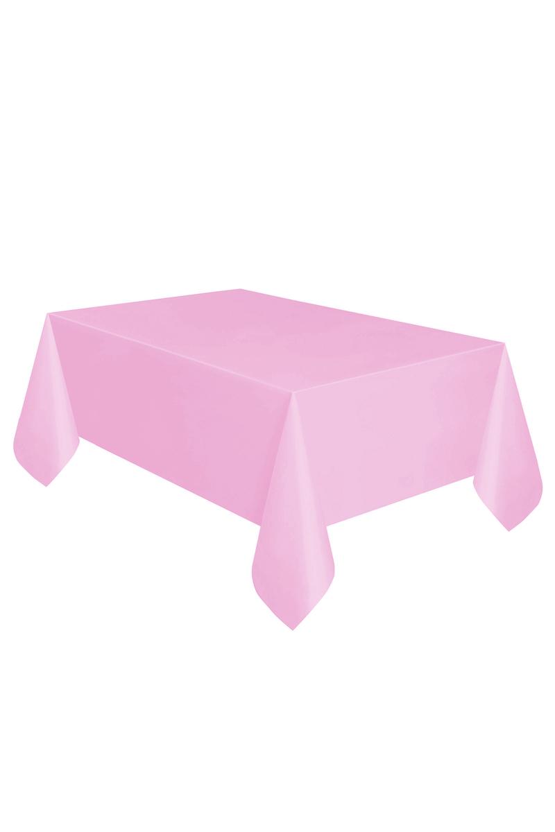 Roll-Up Plastik Masa Örtüsü Pembe 137 x 270cm 1 Adet