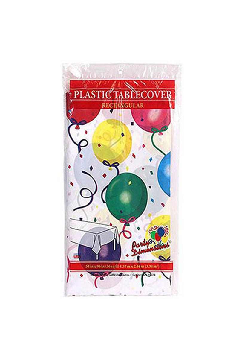 Roll-Up Rengarenk Balonlu Plastik Masa Örtüsü 120x180cm 1 Adet