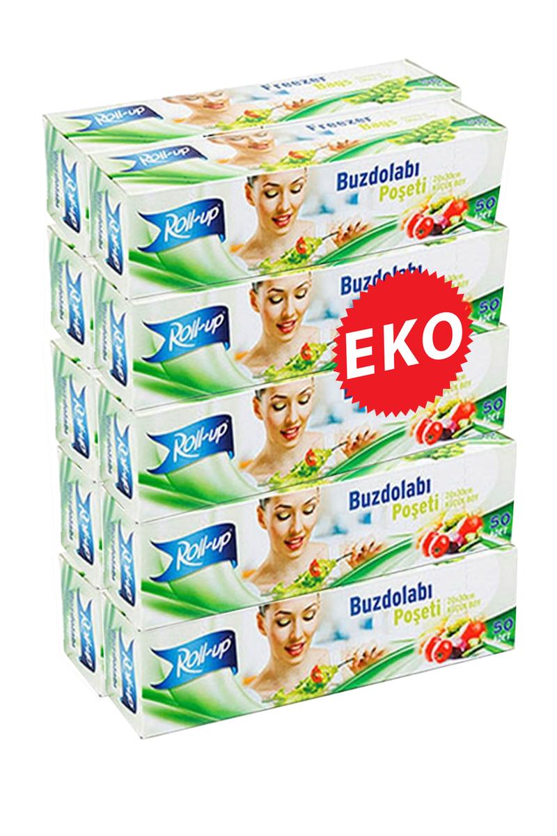 Roll-Up Buzdolabı Poşeti Küçük Boy Ekonomik 10 Paket