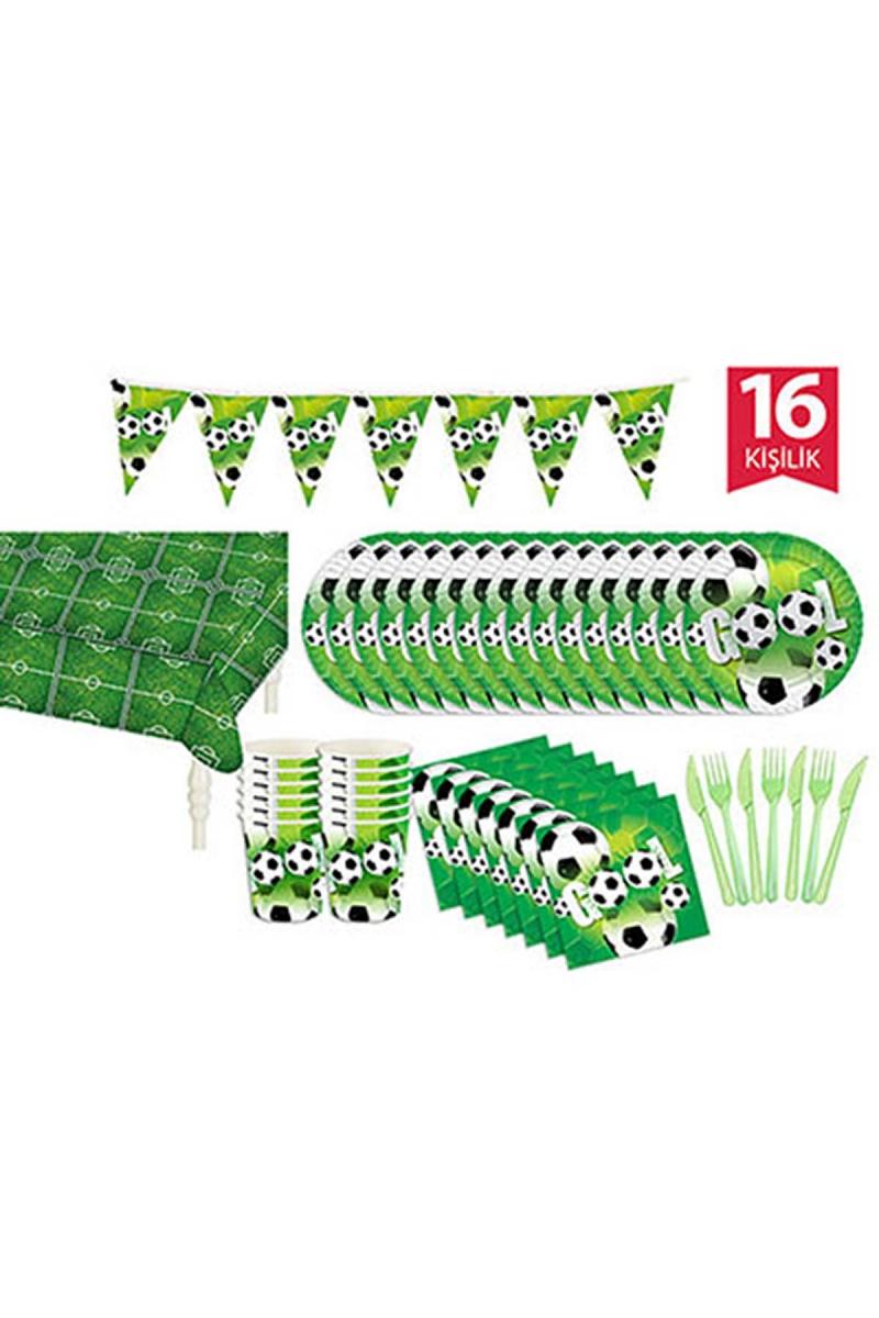Roll-Up Futbol Partisi Parti Seti 16 Kişilik 104 Parça - Thumbnail