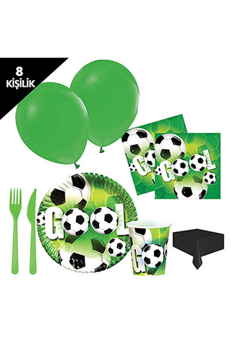 Roll-Up Futbol Partisi Parti Seti 8 Kişilik 97 Parça - Thumbnail