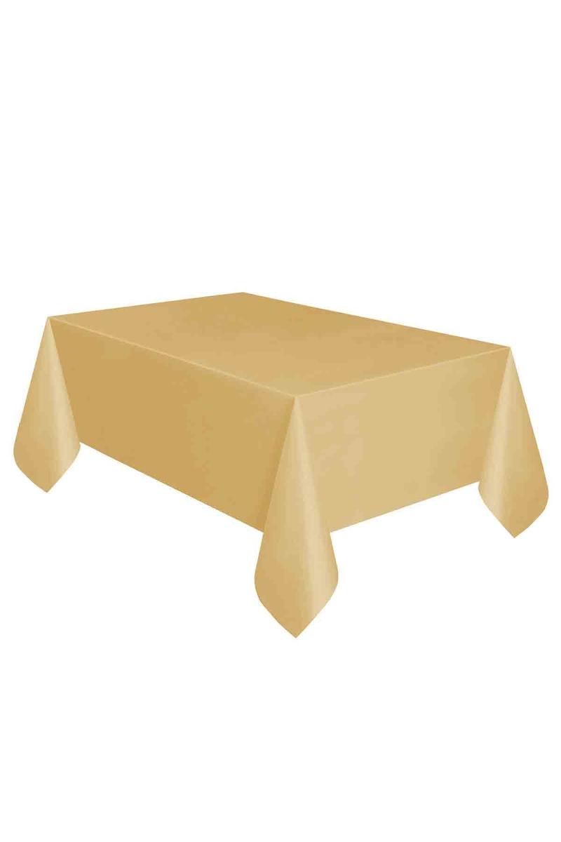 Roll-Up Plastik Masa Örtüsü Altın 137 x 270cm 1 Adet