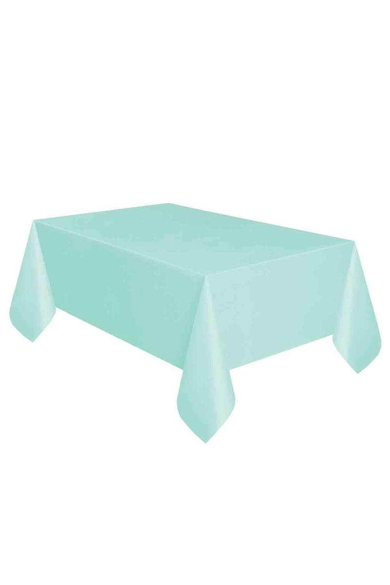 Roll-Up Plastik Masa Örtüsü Mint Yeşili 137 x 270cm 1 Adet