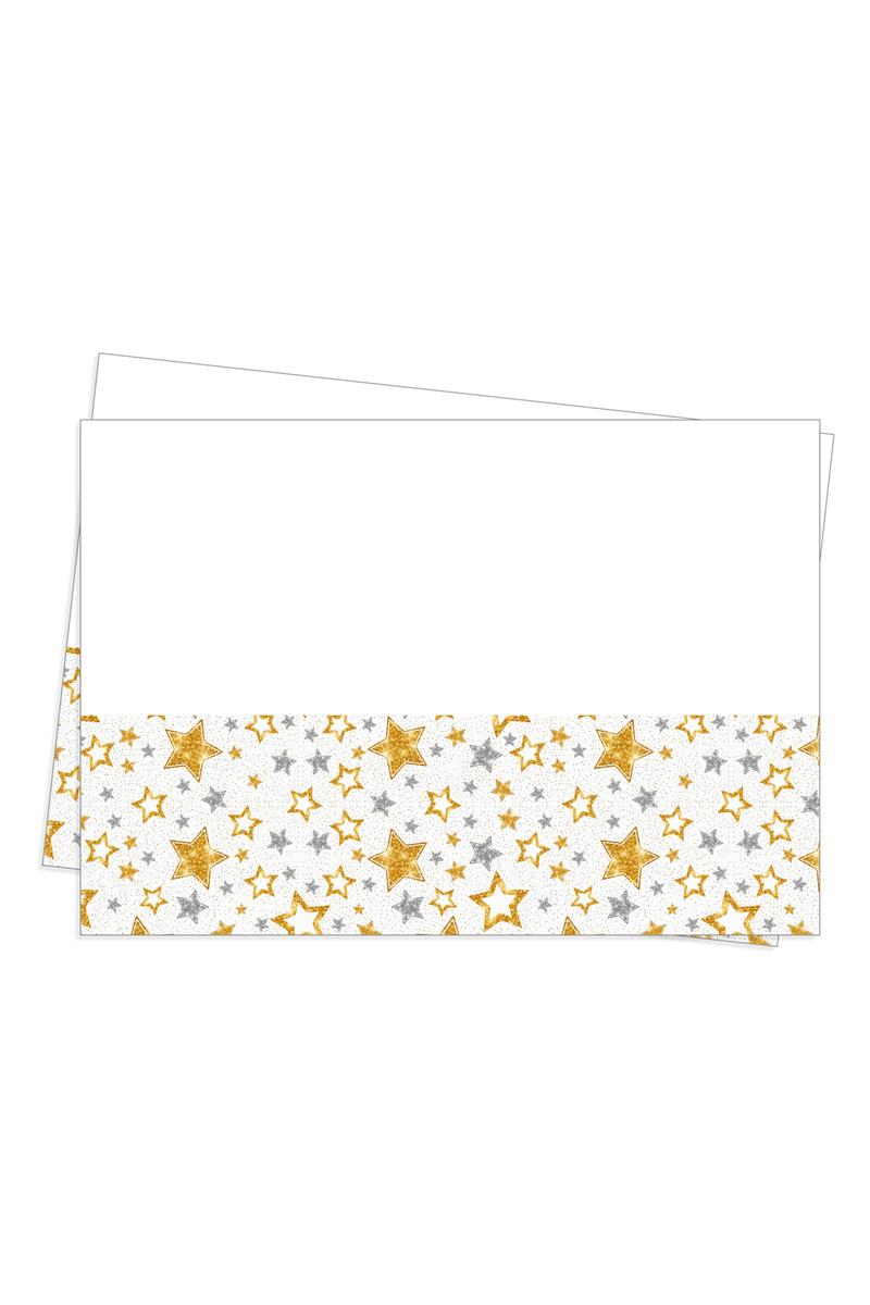 Roll-Up Plastik Masa Örtüsü Yıldızlar Beyaz 120x180cm 1 Adet