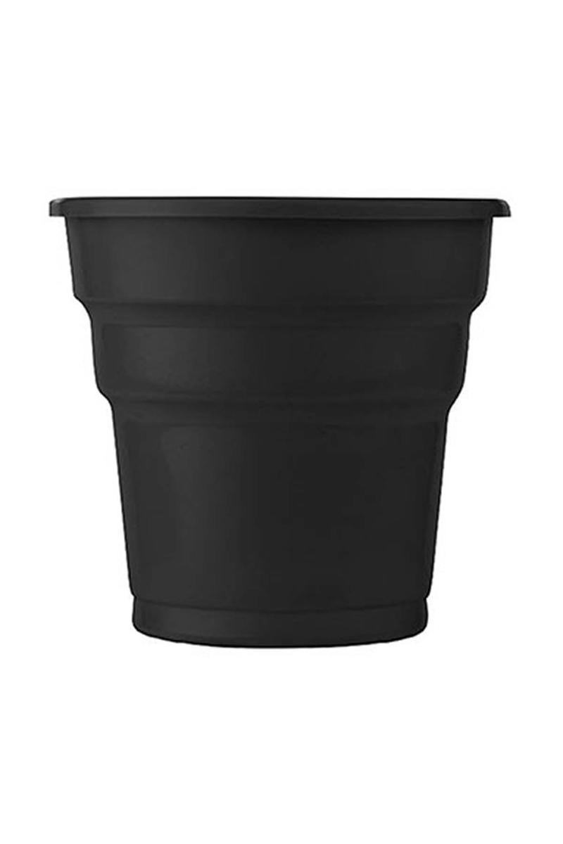 Roll-Up Plastik Meşrubat Bardağı Siyah 180cc-7oz 25li