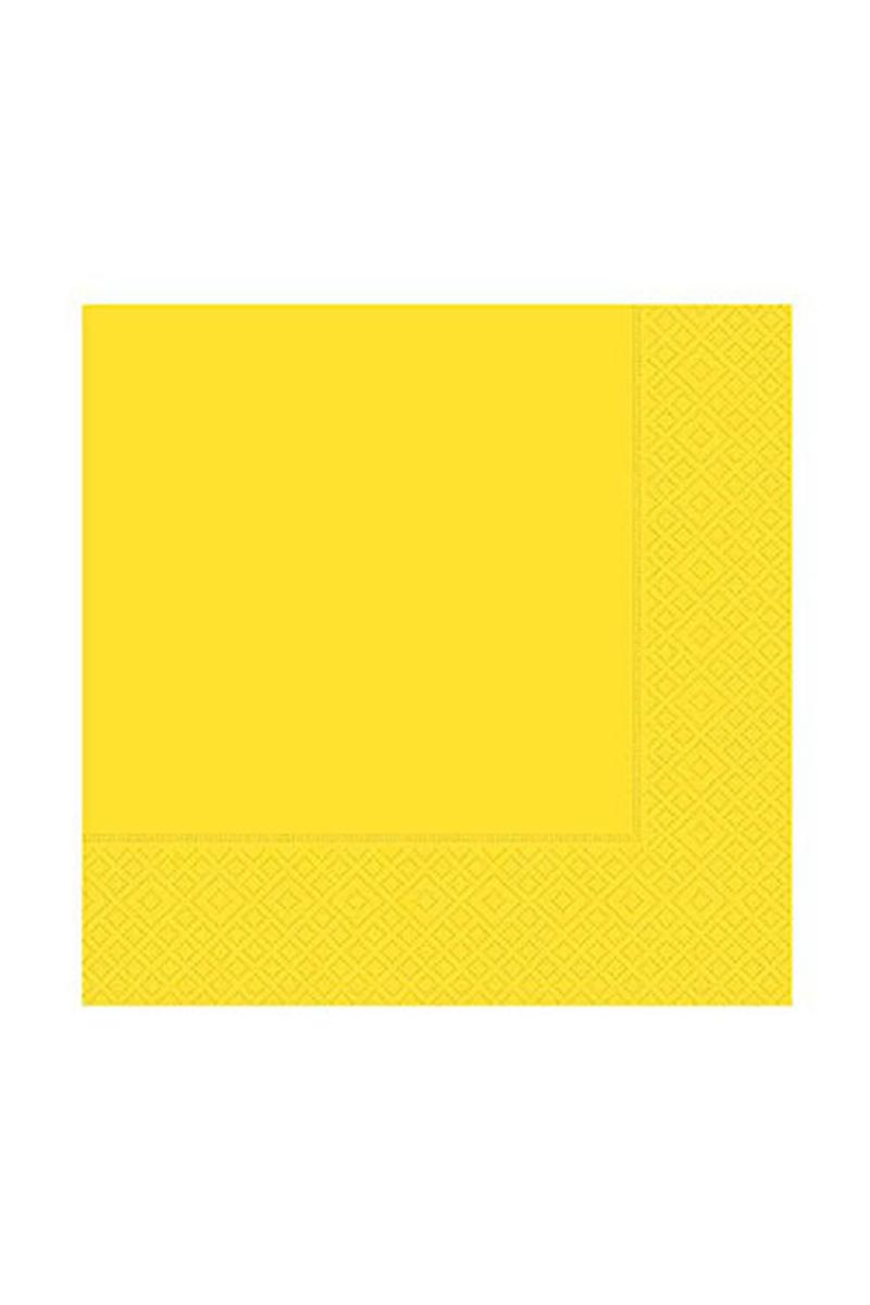Roll-Up Kağıt Peçete Sarı 33 x 33cm 20li