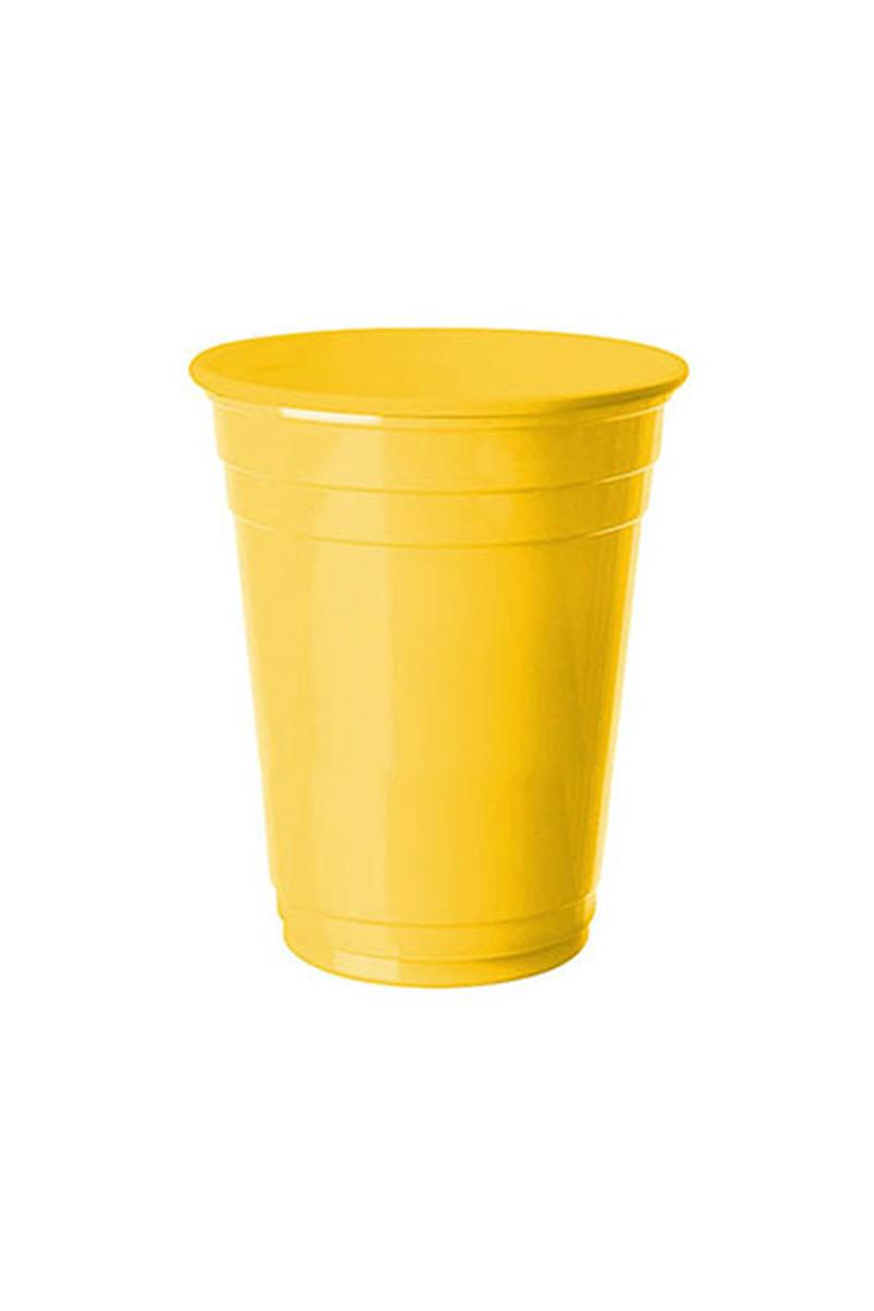 Roll-Up Plastik Meşrubat Bardağı Sarı 266cc-9oz 8li