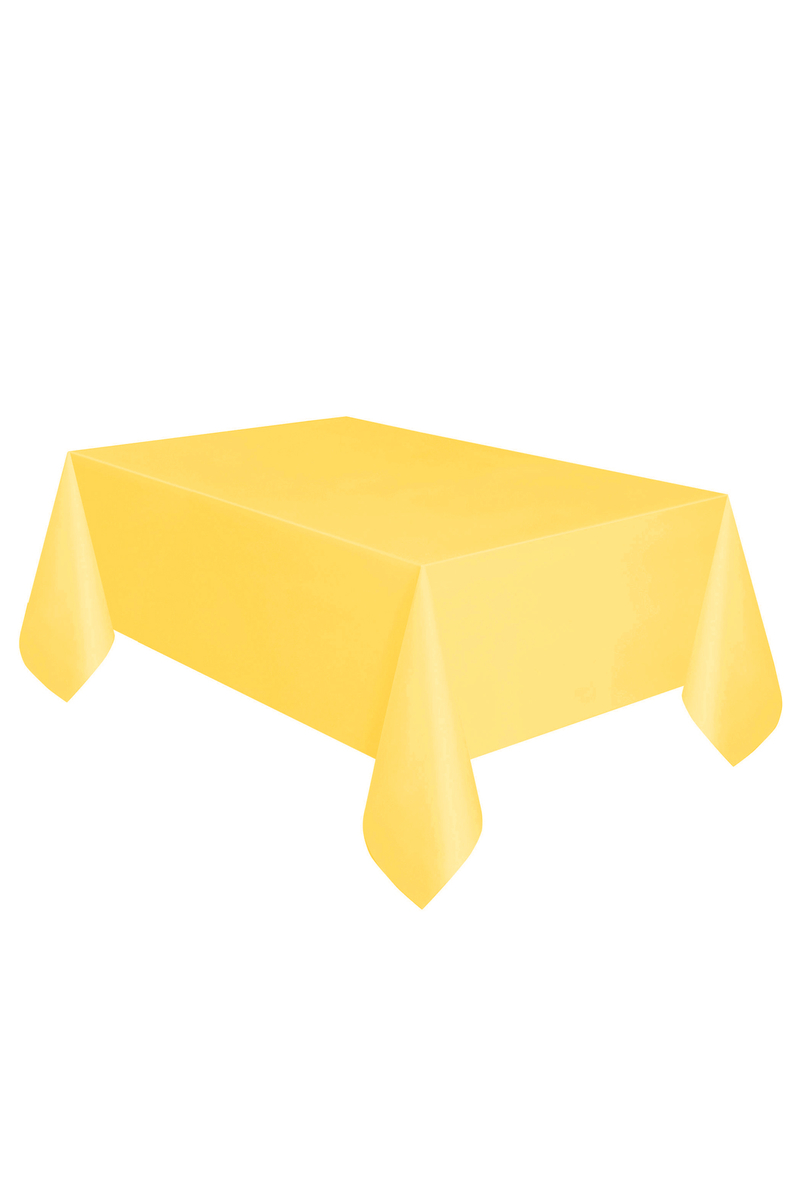 Roll-Up Plastik Masa Örtüsü Sarı 137 x 270cm 1 Adet