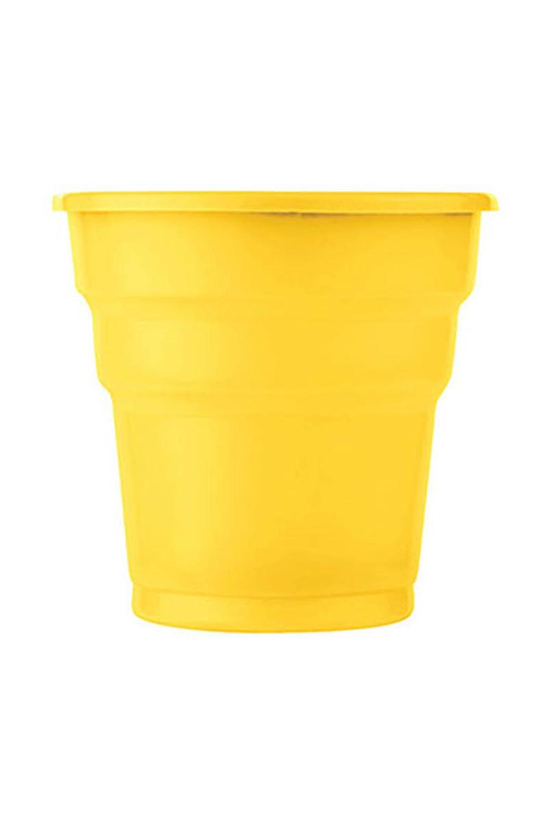 Roll-Up Plastik Meşrubat Bardağı Sarı 180cc-7oz 25li