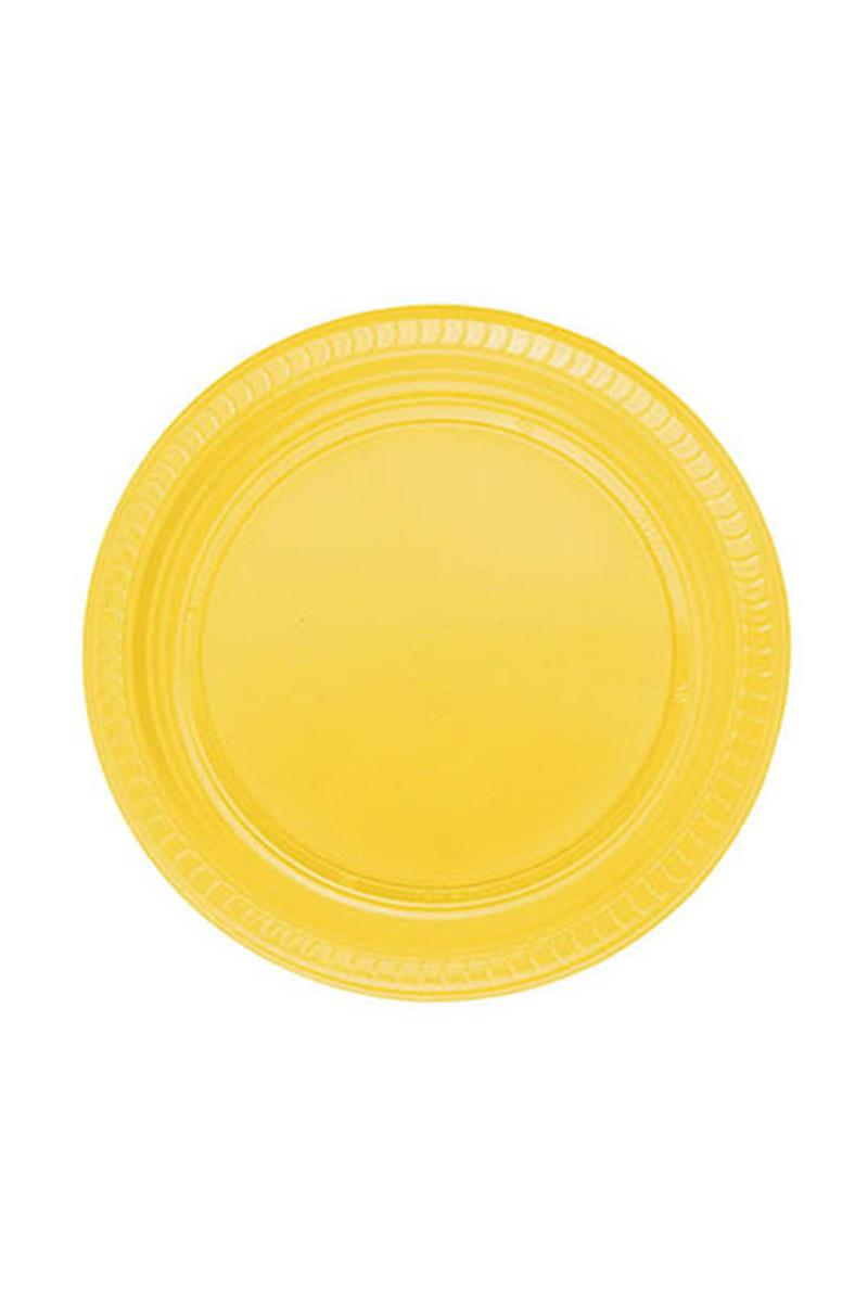 Roll-Up Plastik Tabak Sarı 22cm 25li