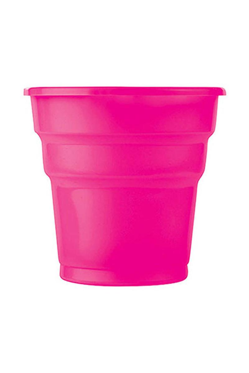 Roll-Up Plastik Meşrubat Bardağı Fuşya 180cc-7oz 10lu