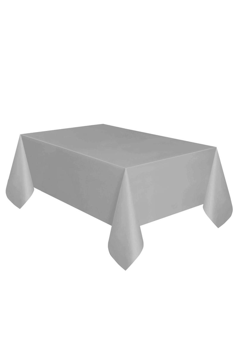 Roll-Up Plastik Masa Örtüsü Gümüş 137 x 270cm 1 Adet